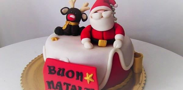 Torta pasta di zucchero babbo Natale golosissime