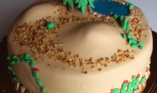 Torta pasta di zucchero oasi