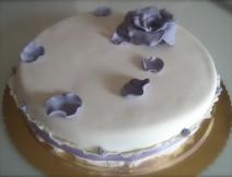 torta pasta di zucchero rosa romantica golosissime
