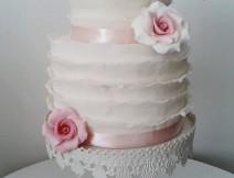 torta pasta di zucchero ruffle sposa