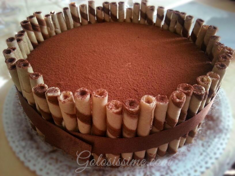 Tiramisu golosissime for Decorazione torte con wafer